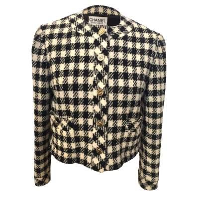 Vintage checkered wool Jacket-0