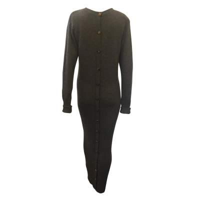 100% cashmere knit Dress-3