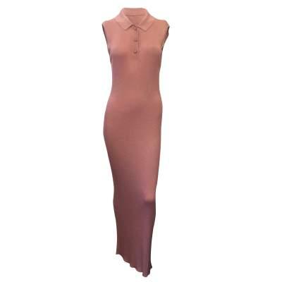 Sleeveless lurex knit dress-0