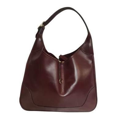 Vintage burgundy bag year 1900-0