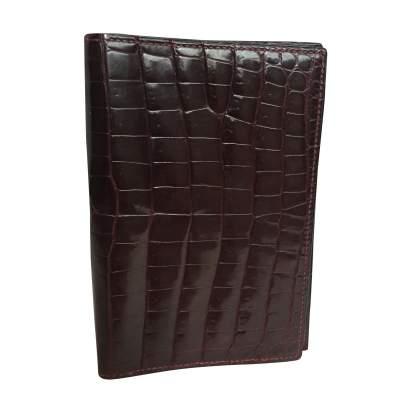 Vintage crocodile card and notebook holder-1