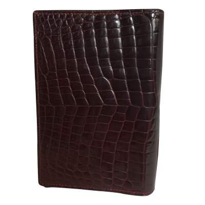 Vintage crocodile card and notebook holder-3