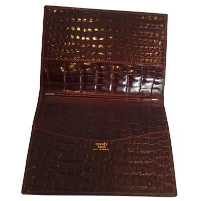 Vintage crocodile card and notebook holder-5
