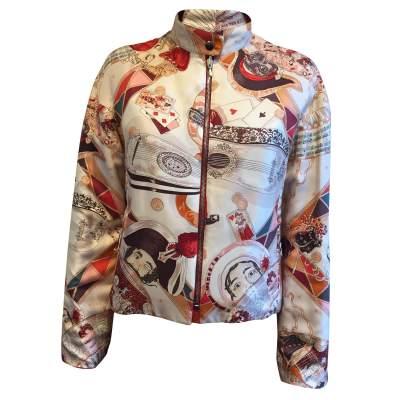 Reversible printed silk Jacket-0