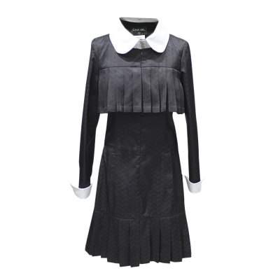 White collar black Dress-0