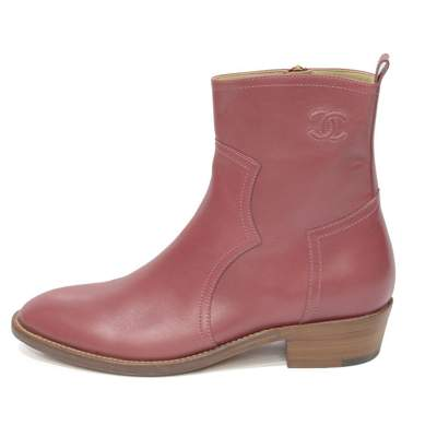 Dusty pink leather Boots-0