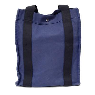 Black and blue canvas Bag -0