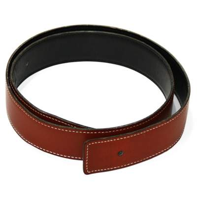 Reversible brown leather Belt -0