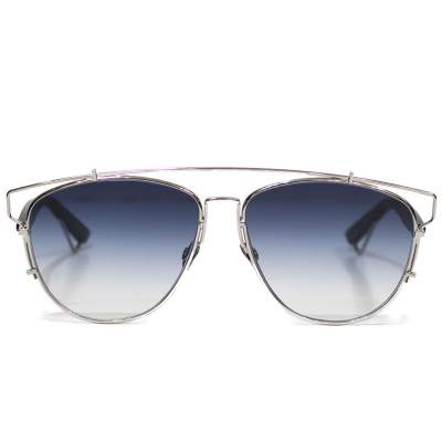 Silver and blue technologic Sunglasses -0