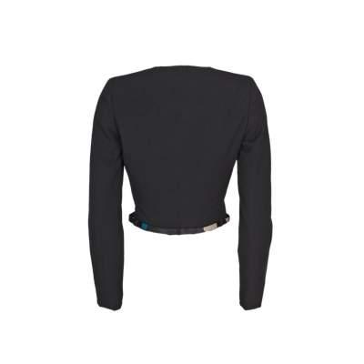 Short cross fastening wool Jacket -3