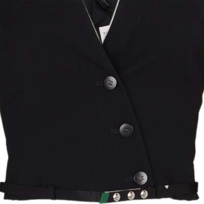 Short cross fastening wool Jacket -7