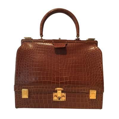 Vintage crocodile Bag 1950-0