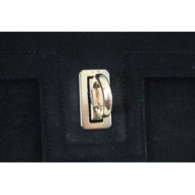 Vintage 40's mini Hermes Deer Leather Bag with 18k Gold Clasp-5