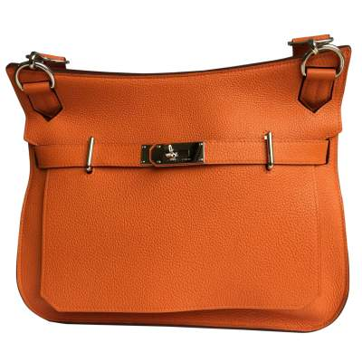 Orange leather Bag-0