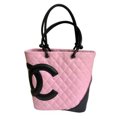 Pink Cambon tote Bag -0