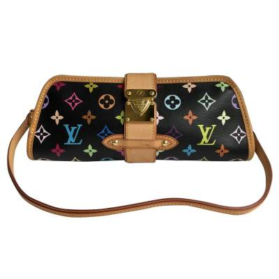 Monogram black canvas and leather Clutch-0