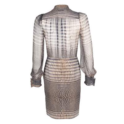 Silk printed Dress -3