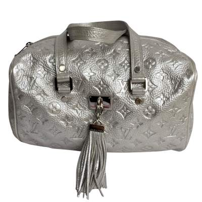 Rare limited edition Silver  Monogram Shimmer Comete  Bag-0