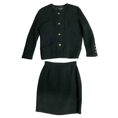 Green Tweed Suit -0