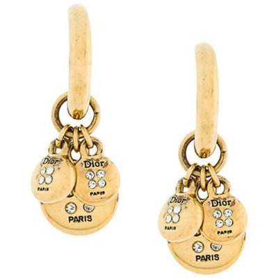 Dior Gold Tone Clip On Earrings-0