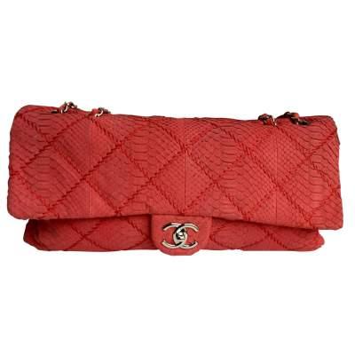 Pink python shoulder Bag-0