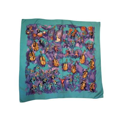 "Collector Silk scarf ""Concerto"" -0"