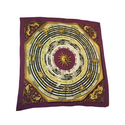 "Collector Silk scarf ""Dies et hore"" -0"