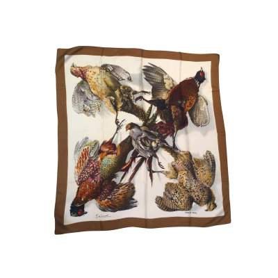 "Collector Silk square ""Belle chasse"" scarf-0"