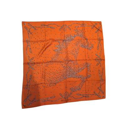 "Collector Silk scarf ""Horse of legend"" -0"