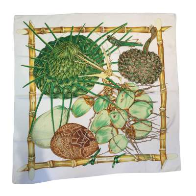 "Collector Silk scarf ""Creole garden"" -0"