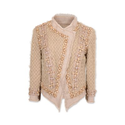 Linnen & Pearls Jacket -0