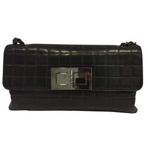 Black lamb leather Handbag-0
