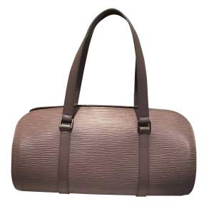 Pink taupe leather Bag-0