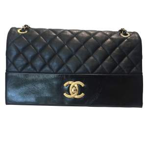 Black quilted leather Bag-0