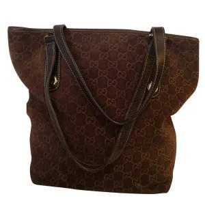 Brown monogram suede Bag-0