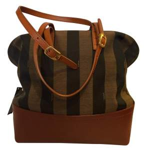 Brown canvas leather Bag-0