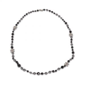 Black and grey pearls Necklace-0