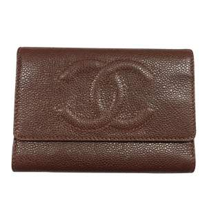 All-in-one brown grained leather Wallet-0