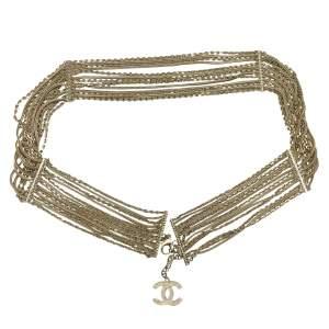 Multi-row matte gold chain Belt-0
