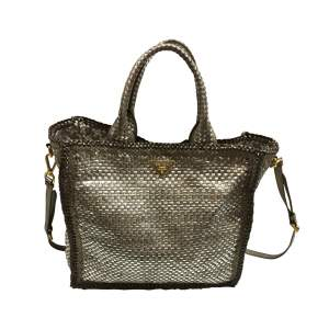 Braided taupe tote Bag-0