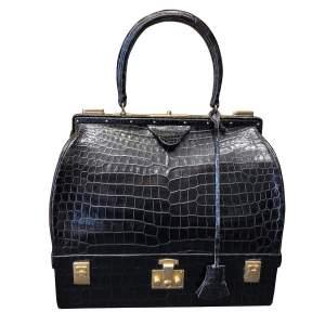 Black crocodile leather Bag-0