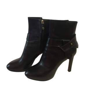 Platform black leather Boots-0