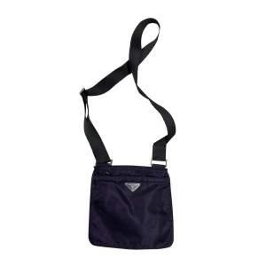 Purple Nylon Cross Body Bag-0