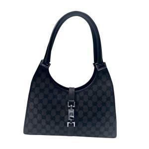 Brown and black monogram  Handbag-0