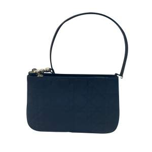 Navy quilted canvas Clutch-0