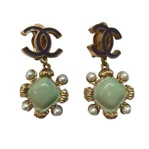 Gold plated metal Earrings-0