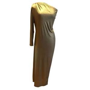 Vintage golden long summer 1987 Dress-0