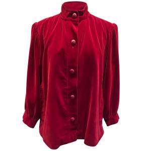 Vintage late 1970 red velvet Jacket -0