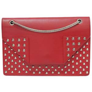 Betty red leather Handbag-0