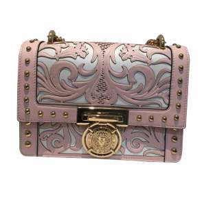 Pink and white leather Bag-0